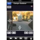 Screenshot visualizzazione e gestione telecamere da Smartphone